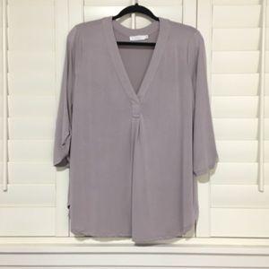 Lush roll tab sleeve blouse
